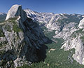 Half Dome across the abyss, Yosemite National Park