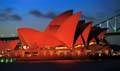 Sydney Opera house lit in Red for the New Year II 1998/99