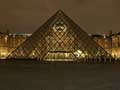 The Louvre Pyramid at night